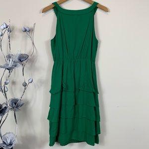 Anthropologie Dresses - Maeve Anthropologie green Teresina tiered dress